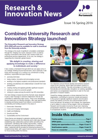 Research and Innovation News