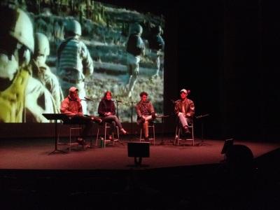 Veterans on stage discuss alternative narratives