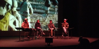 Veterans on stage discuss alternative narratives
