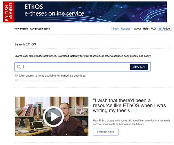 Phd thesis database ethos